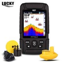 LUCKY Двухчастотный Эхолот 2 в 1 (200КГц/83КГц) Портативный Рыбоискатель Сонар Эхолот со Цветным ЖК-дисплеем  2.8 FF718LiCD