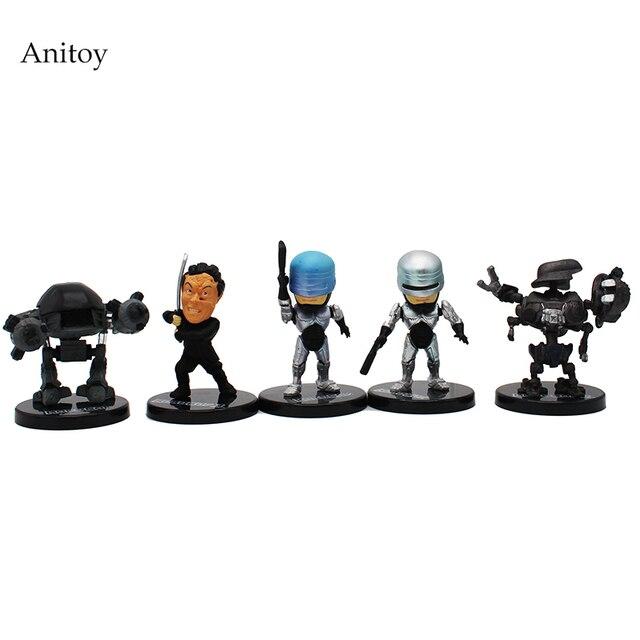 5 Pcs Set Kartun Kt4225 Robocop Pvc Aksi Angka Koleksi Model Mainan