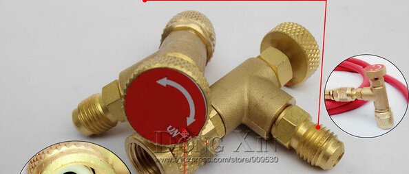 New Arrived HS-1221 R410A Refrigeration Charging AdapterAir conditioning charging valve red one
