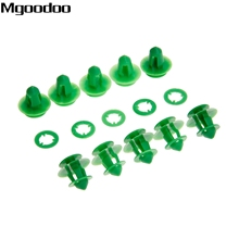 10pcs Car Door Card Trim Panel Clips Rear Tailgate Interior A0009912771 For Mercedes Benz VITO VIANO W639 Green Auto Fasteners цены онлайн