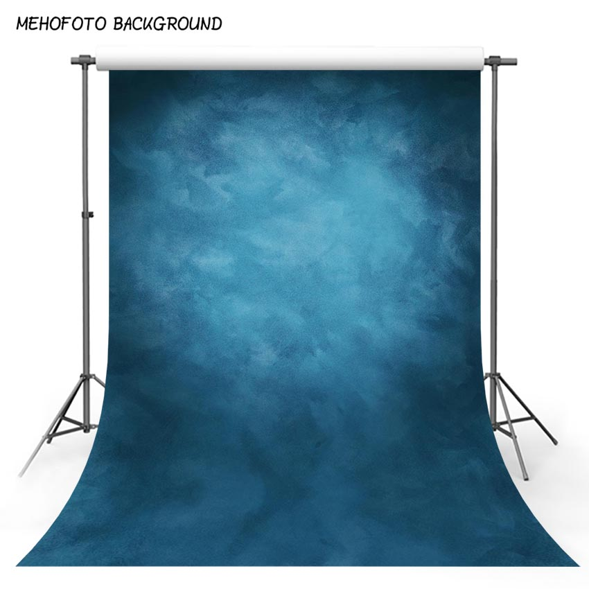 MEHOFOTO Old Master Backdrops Misty Retro Blue Portrait Abstract Photography Photo Background Wedding Backdrops for Pictures 3 5m vinyl custom photography backdrops prop nature theme studio background j 066
