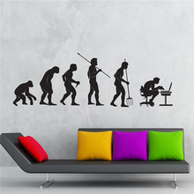 Wall Decal Gamer Evolution Video Game Kids Room Vinyl Stickers Art Mural Home Decor