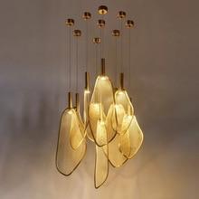 Современный уникальный светодиодный подвесной светильник в форме вентилятора, индивидуальная Подвесная лампа для гостиной, спальни, ресторана, Подвесная лампа 220 В для дома, арт-деко
