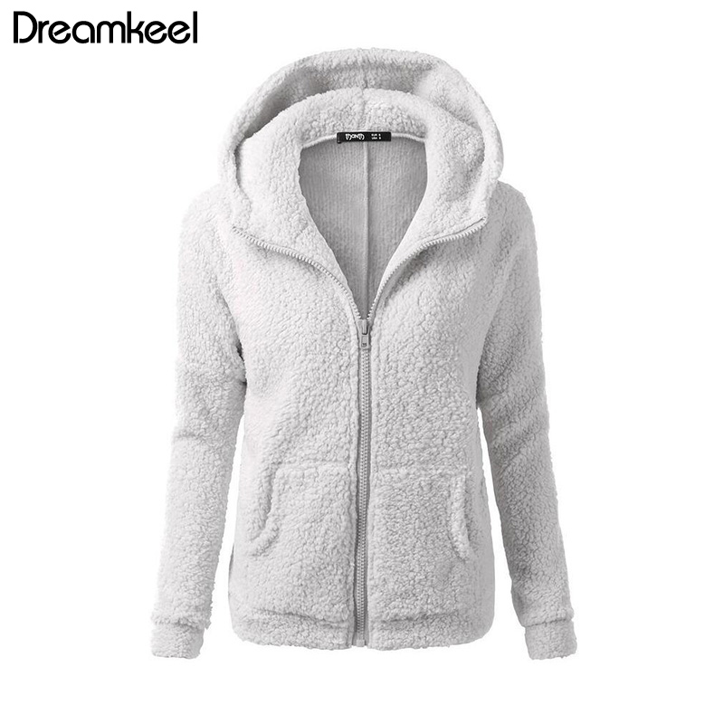 HTB14espaPDuK1Rjy1zjq6zraFXaY Solid Color Coat Women Thicken Soft Fleece Fashion Casual Outwear Coat Winter Autumn Warm Jacket Hooded Zipper Overcoat Female Y