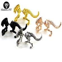 4 Colors Alien Earrings Dinosaur Earring Black Enamel Stud Earrings For Women Animal Piercing Ear Jewelry Can Dropshipping