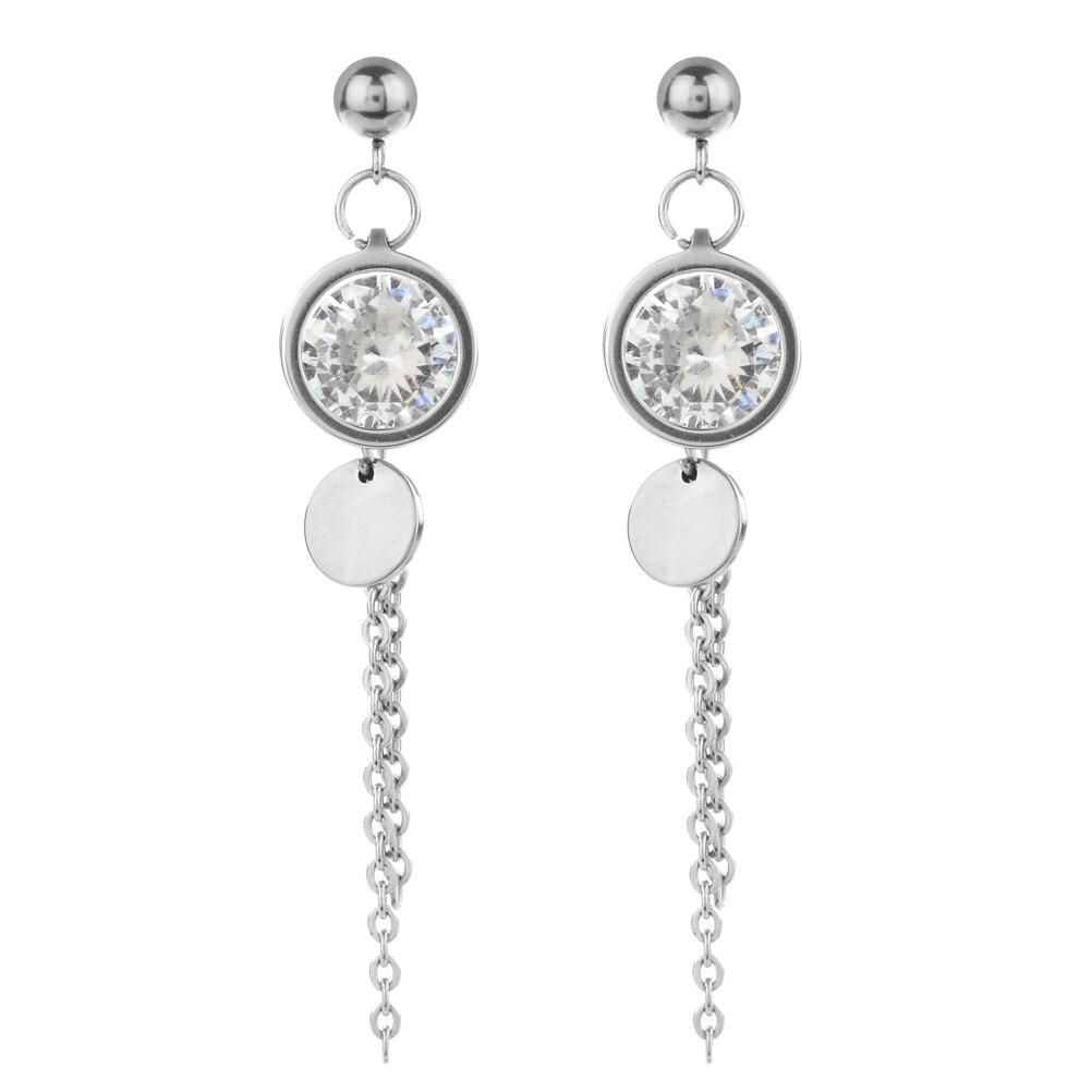 Cute Womens Long Pierced Earrings Big Crystal Finger Pendant Wedding Earring Jewelry Hot Sale