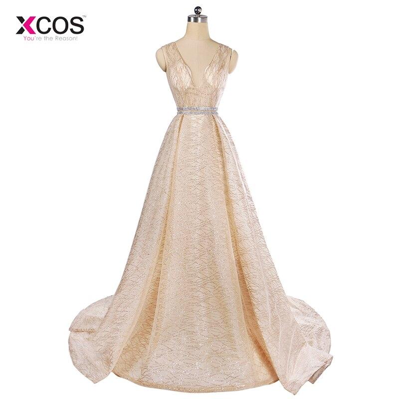 Aliexpress.com : Buy Champagne Gold Evening Dress 2018