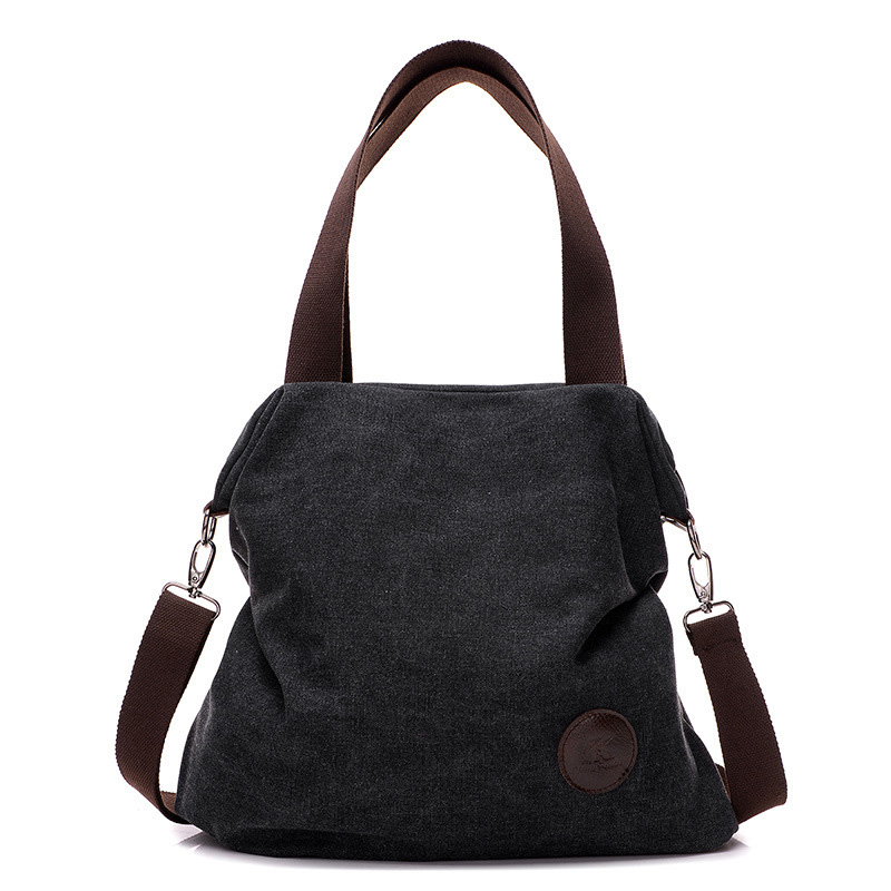 2017 Brand Fashion Women Solid Handbag Female Canvas Shoulder&Crossbody Bag Ladies Messenger Bags Casual Shopping Tote aosbos fashion portable insulated canvas lunch bag thermal food picnic lunch bags for women kids men cooler lunch box bag tote