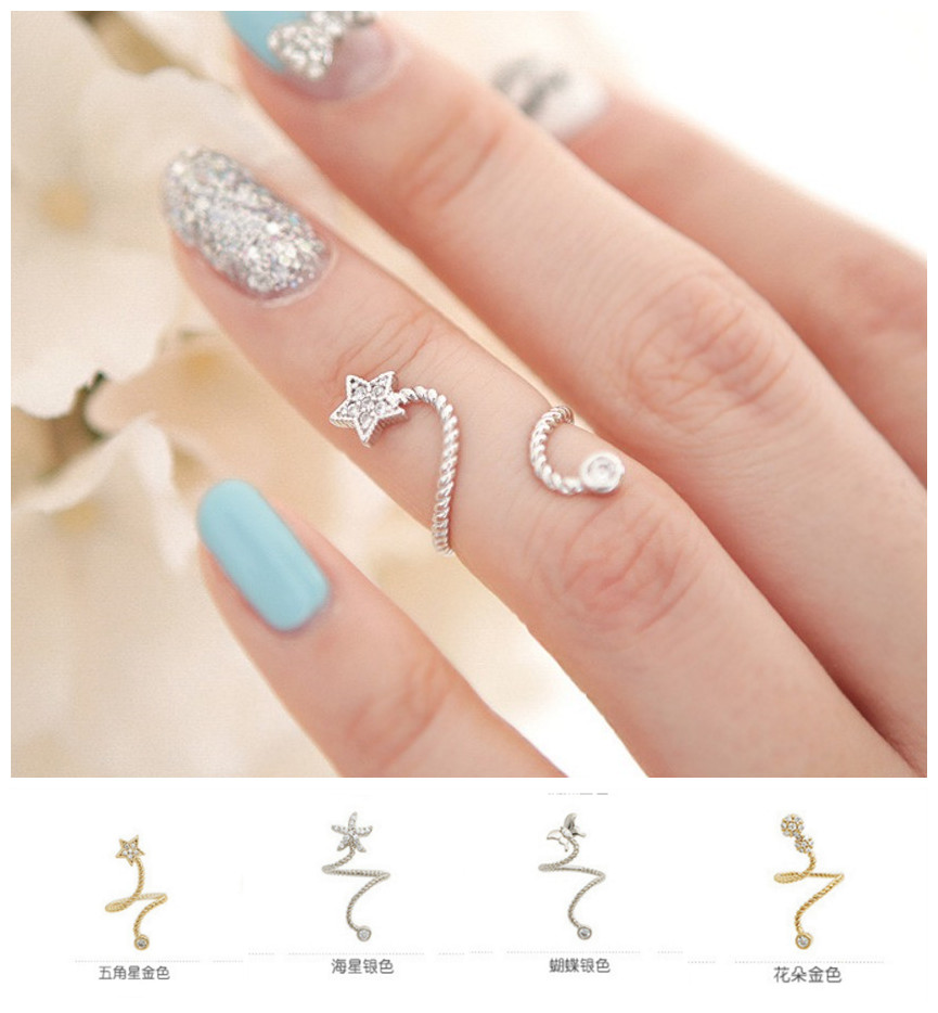 new arrival punk cool charms nail sets jewellery finger rings fake nail art rings women - Fake Wedding Ring