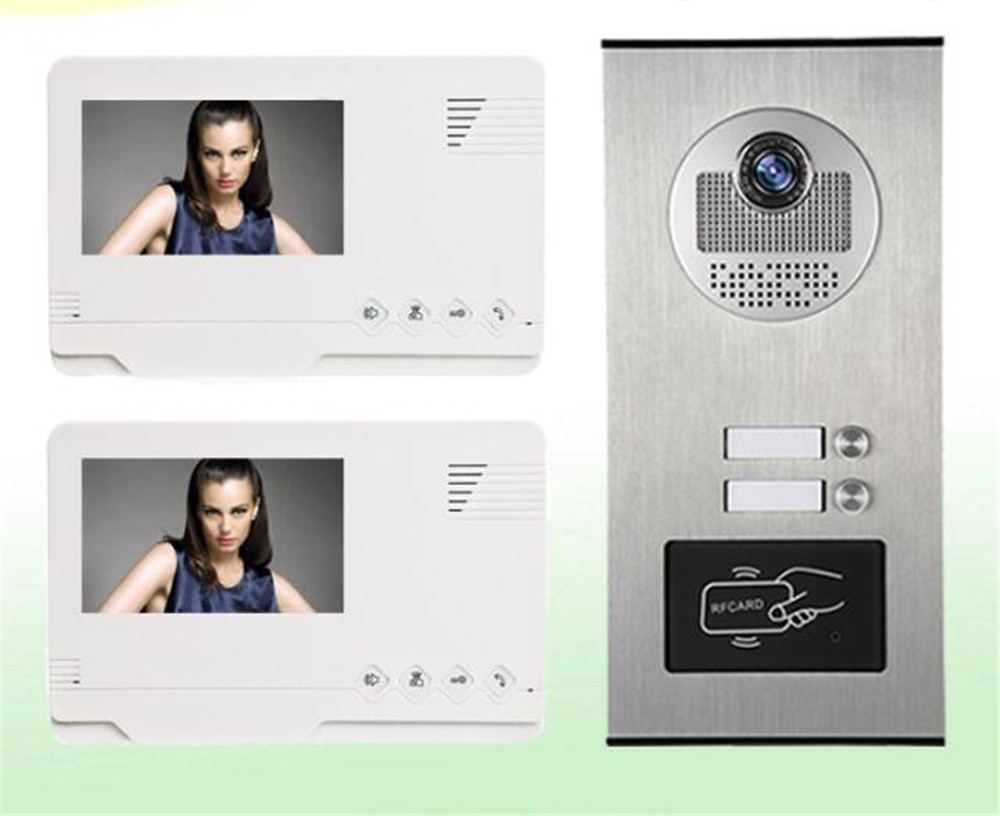 4.3 Inch 700TVL ID Card Access Control 1V2 Intercom Video Door Phone