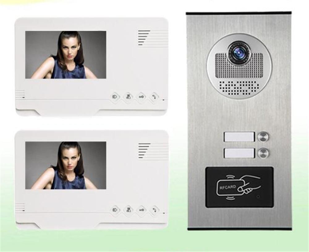4.3 Inch 700TVL ID Card Access Control 1V2 Intercom Video Door Phone