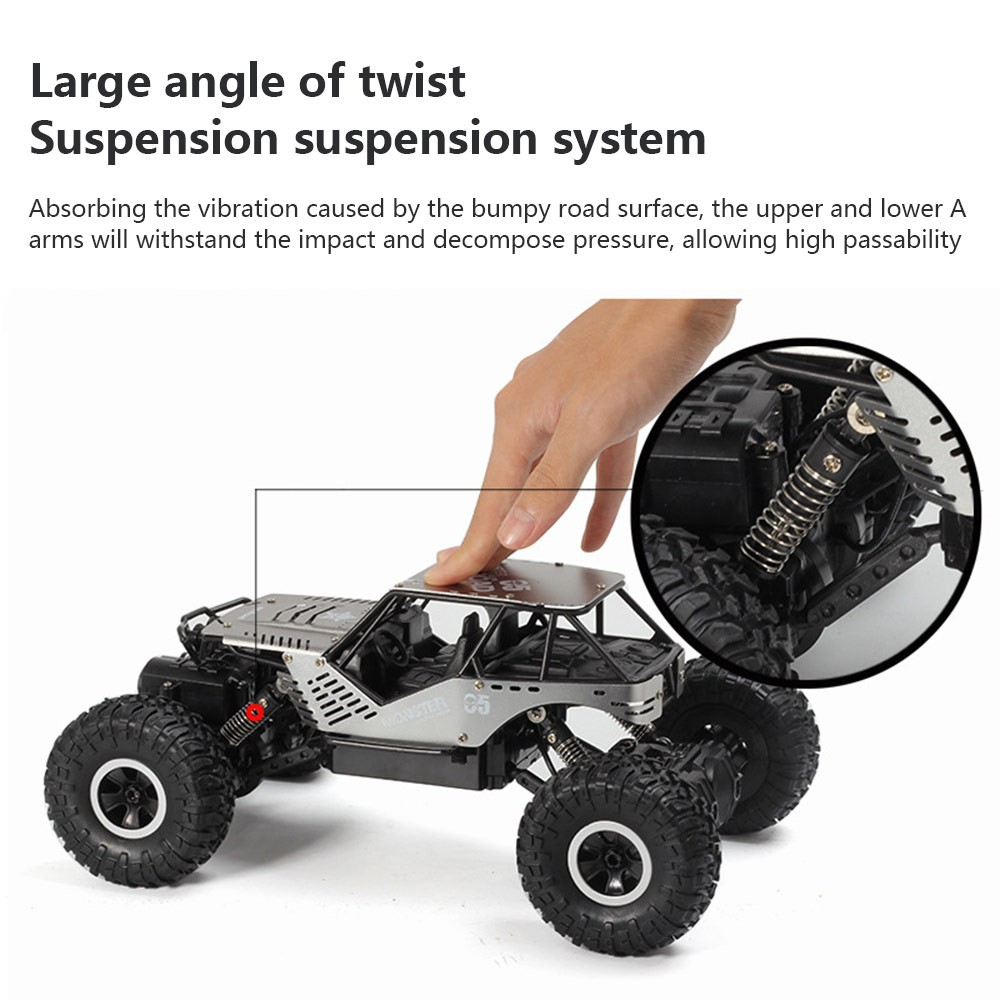 Image 4 - Super alloy Rc car off road vehicle 4wd high speed big foot climbing car crawler type climbing car remote control toy-in RC Cars from Toys & Hobbies