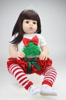 Большой размер 28 70 см силиконовые возрождается малыша куклы наивысшего качества настоящая девушка смотреть мягкое касание длинные волосы