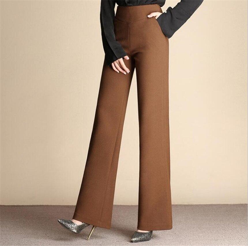 KMUYSL 2018 женские широкие брюки талия высокая навоз брюки без стрейч повседневные брюки KF013