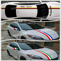 Wide 15cm DIY Personalized Tail Head Back Door Mirror Car Stickers Germany Italy French National Flag