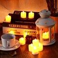 New Fashion Polypropylene Plastic Colorful Candle Shape LED Fliker Flameless Candle Light For Wedding Party Holiday Decoration