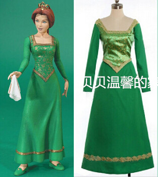 Custom Made Shrek Princess Fiona Dress Cosplay Costume