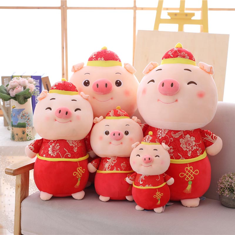 2019 Cute New Year Pig plush Toy Chinese Year Of The Pig ...