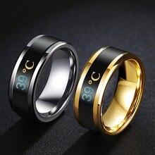 Многофункциональное водонепроницаемое интеллектуальное кольцо с терморегулятором, меняющее цвет,#290463