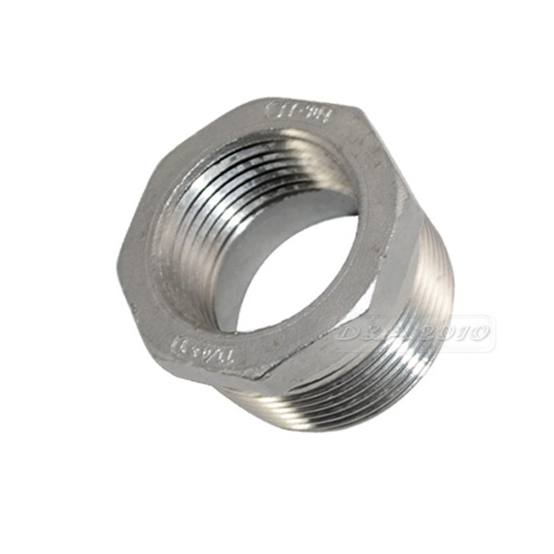 MEGAIRON 1-1/4 Male x 1 Female DN32 to DN25 Reducer Bushing BSPT Thread Stainless Steel SS304 Pipe Fittings for Gas Water Oil 2 x1 1 2 female nipple threaded reducer pipe fittings stainless steel ss304 new good quality