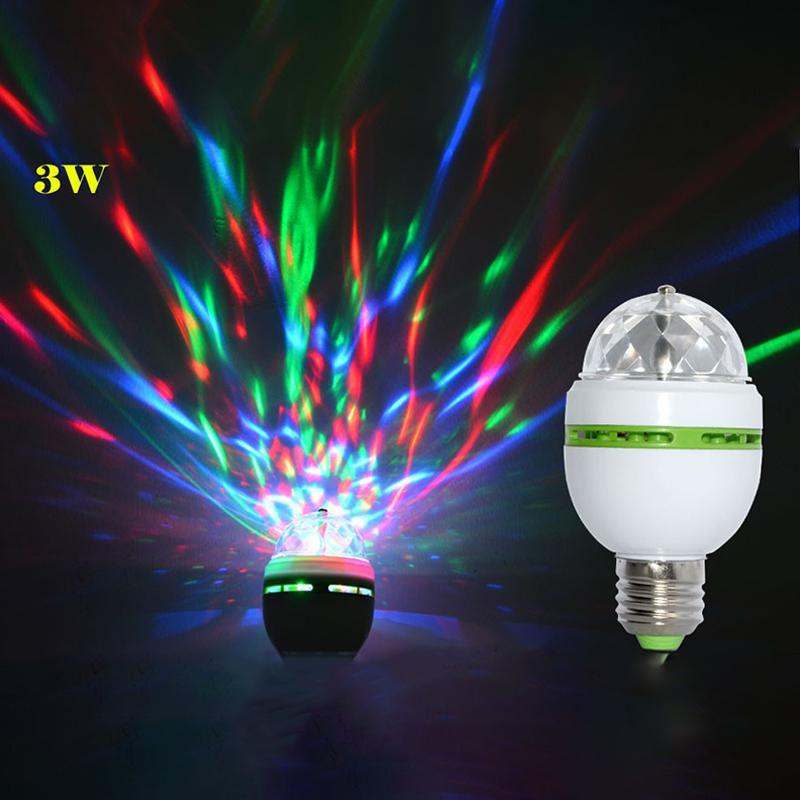 SOLLED E27 3W Auto Rotating RGB LED Disco disco light bulb Stage Lighting effect Lamp for Party Festival Wedding Decoration festival e27 3w 110v 220v led stage light christmas colorful auto rotating rgb bulb party effect lamp disco magic ball eu plug