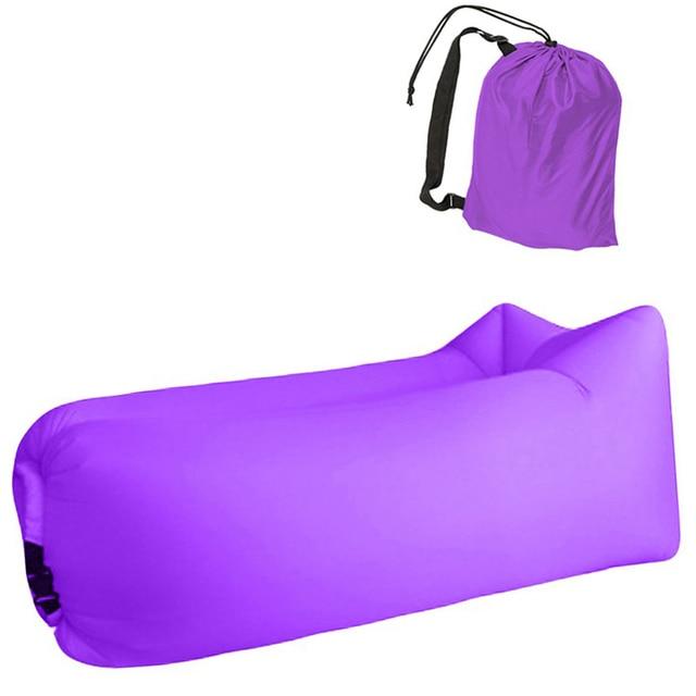 Aotu Light sleeping bag Waterproof Inflatable bag lazy sofa camping Sleeping bags air bed Adult Beach Lounge Chair Fast Folding 5