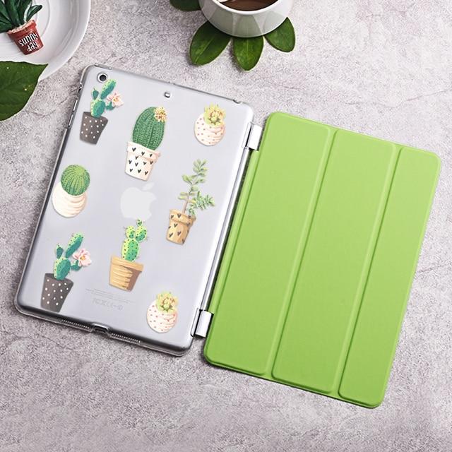 Case для ipad air, кактус серия Tri-fold смарт обложка Ультра Тонкий Кожа PU Вернуться Case для ipad air/5