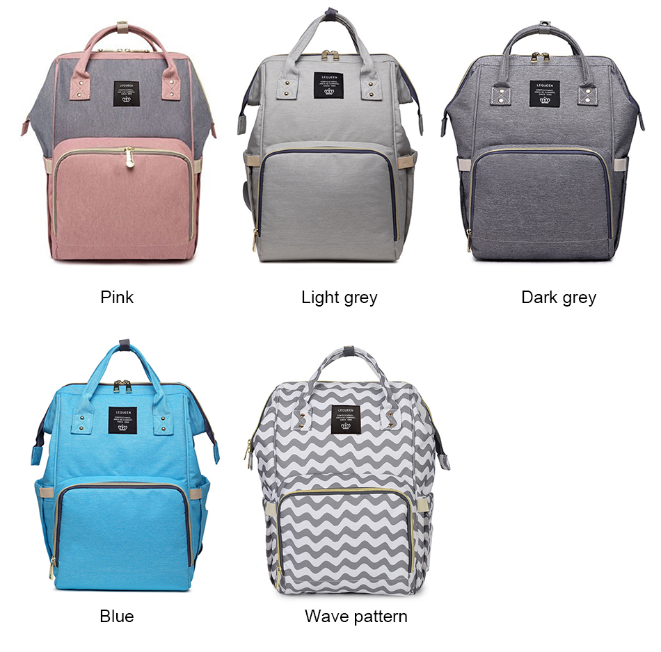Nappy Backpack Bag Mummy Large Capacity Bag Baby Multi-function Waterproof Travel Diaper Bags For Baby Care Droshipping