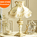 Bedside reading room foyer sitting living room decorative marriage women girl wedding princess fabric big size table light lamp
