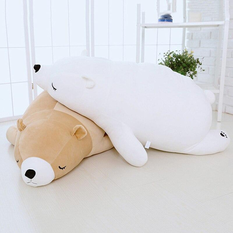NEW Kids' 35cm Soft polar bear toy down cotton bear cushion/pillow for girls/boys children's animal dolls Free shipping little bear animal series many chew toy