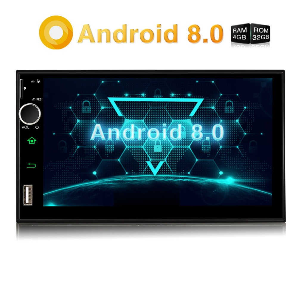 Pumpkin Qcta Core 4GB RAM 32GB ROM Car Stereo 2 Din 7''Android 8.0 Universal Car Radio GPS Navigation Video Audio Player NO DVD-in Car Multimedia Player from Automobiles & Motorcycles    1