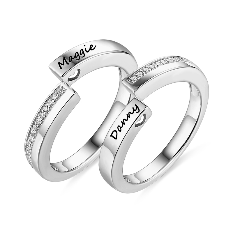 Hot Sales Engraved Combination Couple Ring Infinity Design Ring For Couples Love Ring Size 5-10 gold and silver forever love steel couple ring for men 8 size