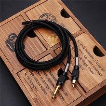 Black Color Durable Copper 1.8 M xD6 Mm Tattoo Machine Clip Cord Premium Soft Silicone Gel RCA Clip Cord Power Supply