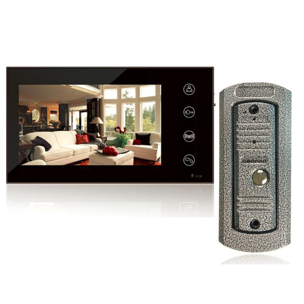 New Home Wired 7inch Color Touch Screen Video Door Phone Intercom Vandal-proof IR Door Cameras System 26 infrared touch screen ir touch panel overlay with 3mm vandal proof glass magic mirror touch screen photo booth touch screen