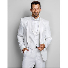 modern suits men groom tuxedo white 3 piece suit wedding custom made suits 2016 formal wear