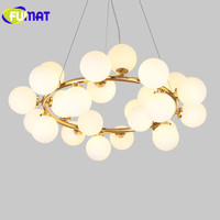 Modern Pendant Lights G4 LED Lamp Black Gold Hanging Lights Suspension Luminaire Bubble Glass Ball Magic