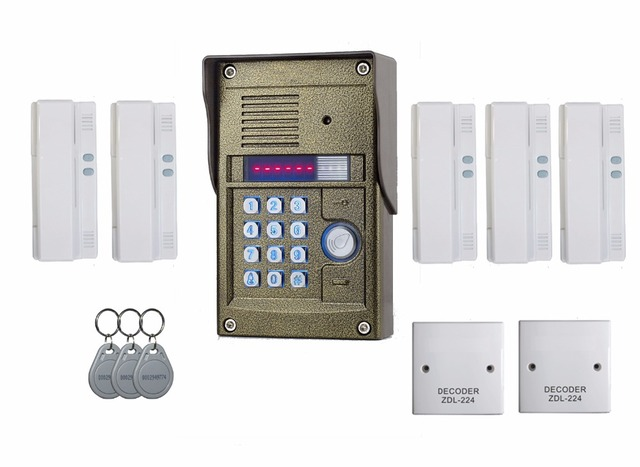 Zhudele 327r 5 Users Apartment Intercom Oudoor Panel Audio Door Phone For Simple And Easy To Install