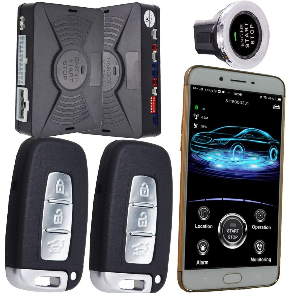 Système d'alarme gps gsm pour les voitures démarrage du véhicule arrêt système d'entrée sans clé système d'immobilisation de voiture suivi gps en temps réel en ligne