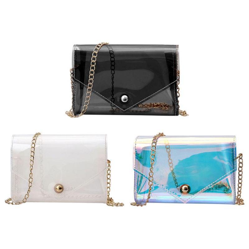 1b67303a4dc Vrouwen Transparante tas Duidelijke Messenger Bags Keten ...