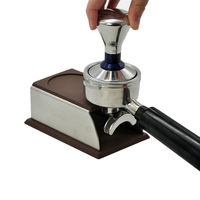 Stainless Steel Silicone Espresso Coffee Tamper Stand Barista Tool Tamping Holder Rack Shelf Coffee Machine Tool