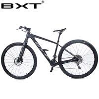 BXT 2018 Новый углерода T800 MTB bike17/19inch1 скорость 1*11 s MT200 масла тормозной 29er колеса двойной дисковый тормоз