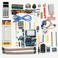 New Arrival UNO R3 Starter Kit For Arduino 1602 LCD Servo Ultrasonic Motor LED Relay RTC