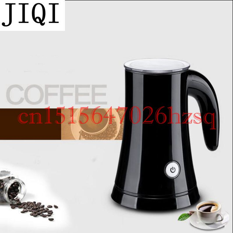 JIQI Household Electric Milk Frother Stainless Steel Foam Machine Automatic Bubble Maker Milk Heating auto power off 220V 410W jiqi household electric milk foam bubble maker fancy coffee milk frother foamer diy egg cream mixer mini automatic blender whisk