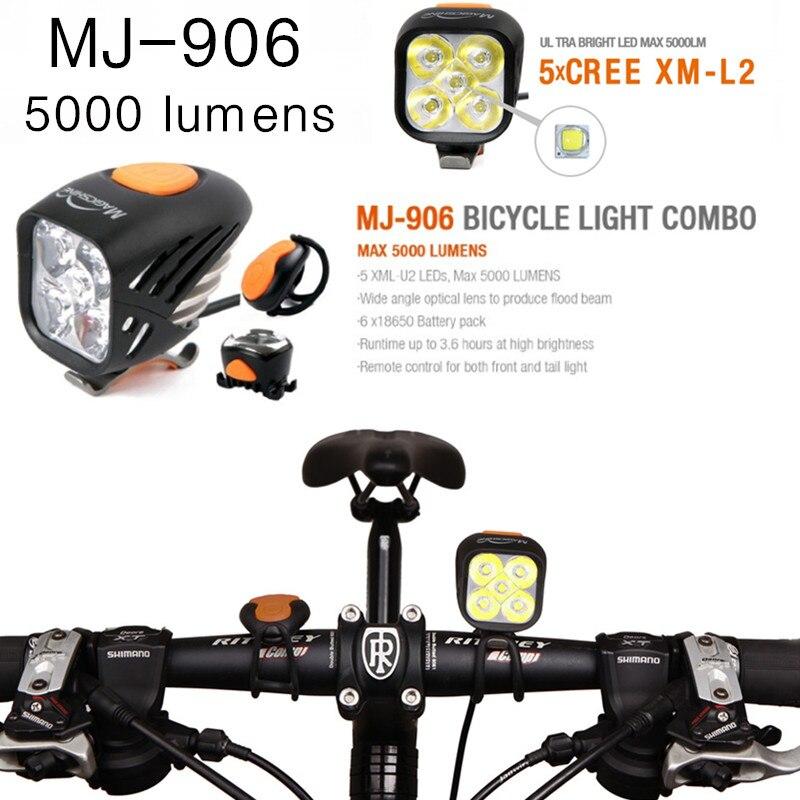 Magicshine MJ-906 MJ906 éclairage vélo Combo VTT Route Vélo Phare Haute-Lumineux Feu Arrière Combinaison 5000 lumens USB de charge