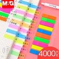 Andstal 4000pcs Plástico Bonito Sticky Notes M & G postá-lo Bandeira Nota Índice Tag Pad Memo Etiqueta Tag marcador Adesivos Sinal Planejador