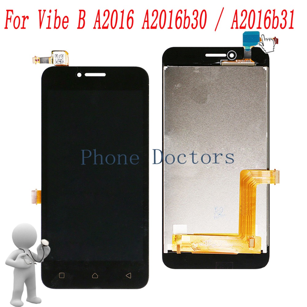 5.0'' Touch Screen Digitizer Glass + LCD Display Assembly For Lenovo Vibe B A2016 A2016a40 A2016b30 A2016b31 ; New ;100% Tested