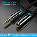 Vention 3.5mm Male to Female Audio Cable Headphone Aux Extension Cable For PC/DVD/TV/Car Audio Extension Cable