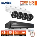 SANNCE 1080N 8CH CCTV Camera System AHD-H 720P DVR 4pcs 1.0MP 1280TVL 8 channels Security Cameras Home Video Surveillance Kits