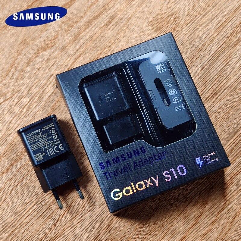 Original DA UE samsung S10 RÁPIDO Carregador usb CARGA rápida Adaptador Tipo C CABO para Samsung galaxy S10 Plus E S8 s9 Plus Nota 8 9 A8s