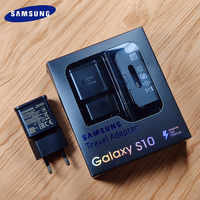 Original EU samsung S10 Fast charger USB Quick charge Adapter Type C cable For Samsung Galaxy S10 Plus E S8 S9 Plus Note 8 9 A8s